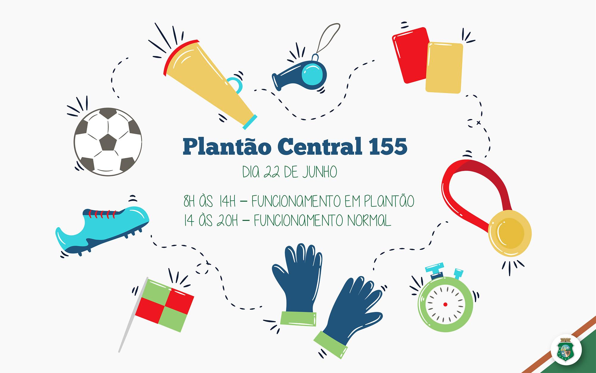 Central 155 funciona em regime de plantão durante jogos da seleção brasileira