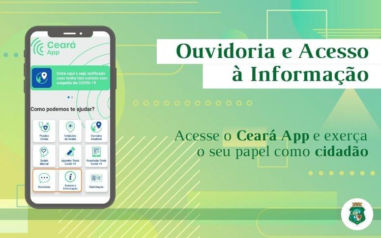 Ceará App passa a disponibilizar serviço de Ouvidoria e Acesso à Informação